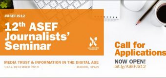 12th Asia-Europe Foundation (ASEF) Journalists' Seminar 2019 in Madrid, Spain (Fully-funded)