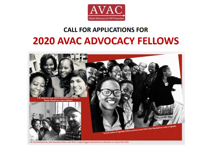 AVAC Advocacy Fellowship Program 2020