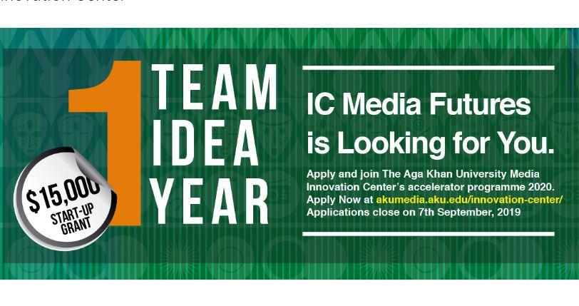 Aga Khan University Media Innovation Center's Accelerator Program 2020 ($15,000 start-up grant)