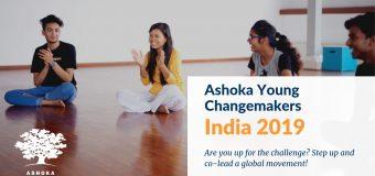 Apply to become Ashoka Young Changemaker Program Intern in Bangalore, India