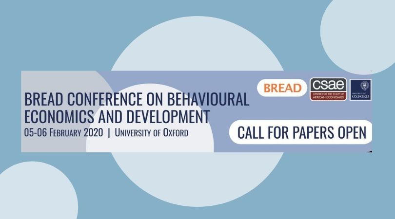 Call for Papers: BREAD Conference on Behavioural Economics and Development 2020