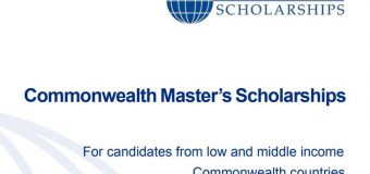 Commonwealth Master's Scholarships 2020 for Low and middle income Commonwealth countries (Fully-funded)