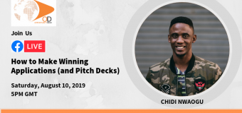 "OD Facebook Live with Chidi Nwaogu on ""How to Make Winning Applications and Pitch Decks"""