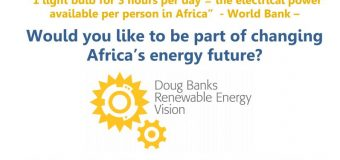 Doug Banks Renewable Energy Vision (DBREV) Scholarship 2020/2021 for South Africans