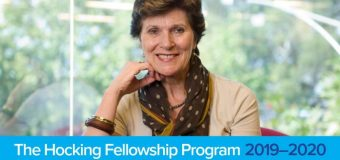 Call for Applications: Hocking Fellowship Program 2019-2020 (Up to $20,000AUD)