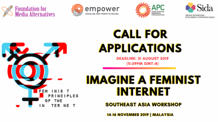 Call for Applications: Imagine a Feminist Internet Southeast Asia Workshop 2019
