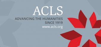 Mellon/ACLS Scholars & Society Fellowship Program 2020/2021 (Stipend of $75,000)