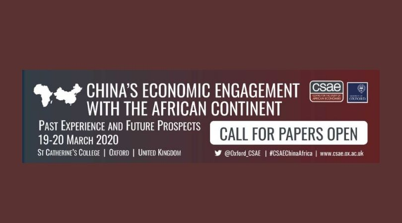 Call for Papers: University of Oxford Centre for the Study of African Economies (CSAE) Conference 2020