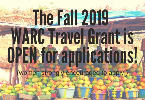 West African Research Center (WARC) Travel Grant 2019