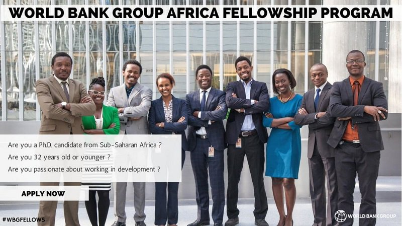 World Bank Group Africa Fellowship Program 2020 for PhD Students (Funded)