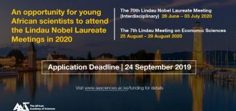 AAS Nominations for African Scientists to attend the 7th Lindau Meeting on Economic Sciences 2019
