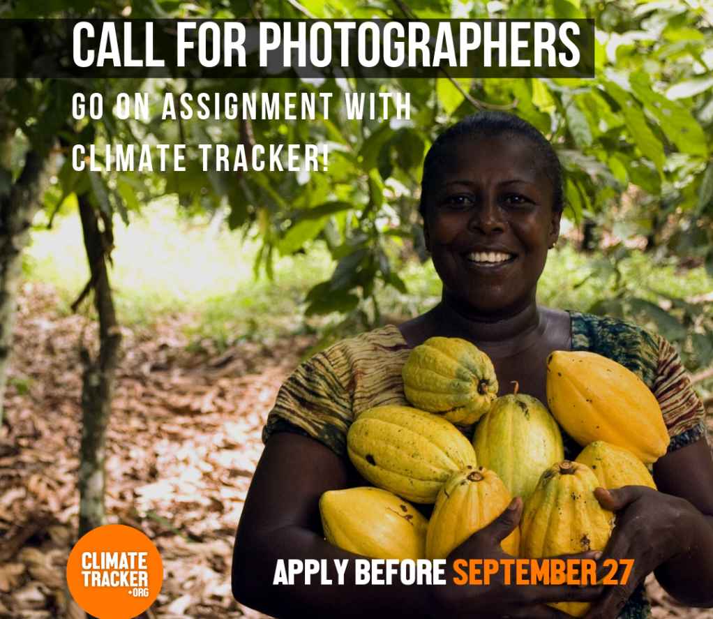 Call for Photographers to go on Assignment with Climate Trackers