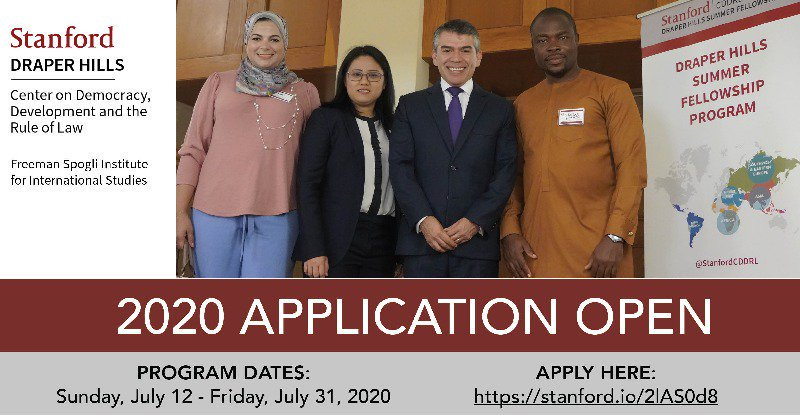 Draper Hills Summer Fellowship (DHSF) Program 2020 at Stanford University (Funded)