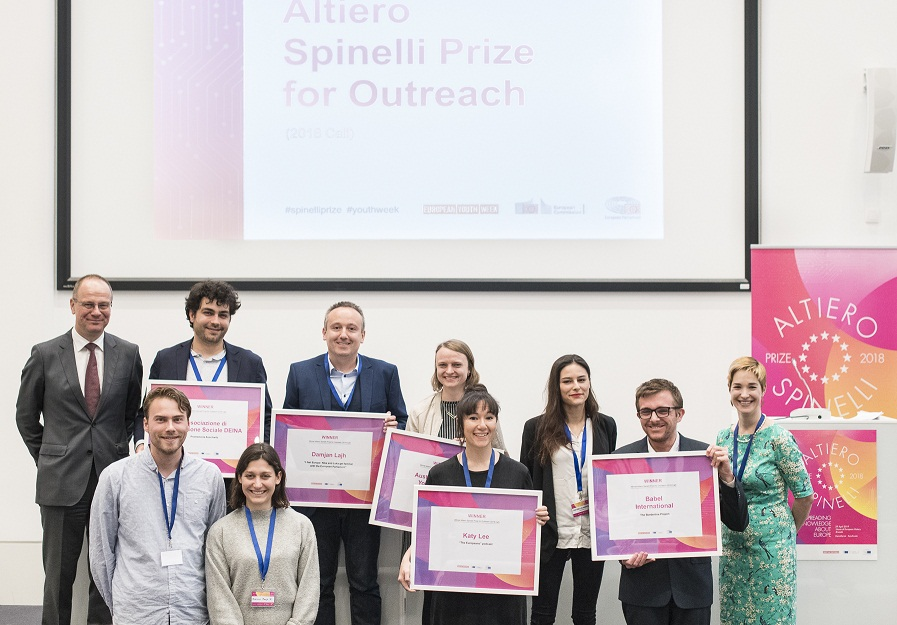 European Commission Altiero Spinelli Prize for Outreach 2019 (Up to 25,000 EUR)