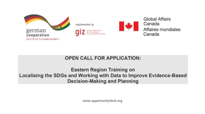 GIZ GmbH Eastern Region Training on Localising the SDGs and Working with Data 2019 in Ghana (Funded)