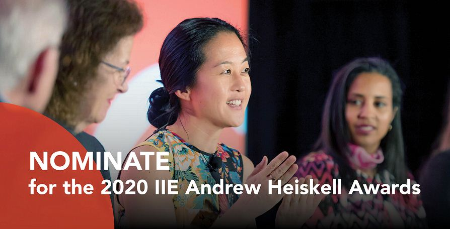 IIE Andrew Heiskell Awards for Innovation in International Education 2020 (Funded to New York plus $1,000 prize)