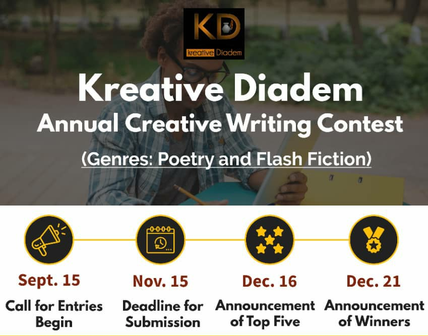 Kreative Diadem Annual Creative Writing Contest 2019 for Nigerians (Prizes up to N50,000)