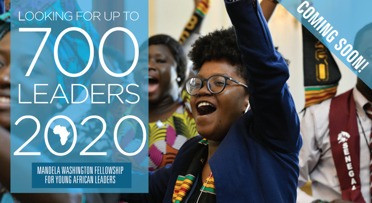 Apply: Mandela Washington Fellowship 2020 for Young African Leaders (Fully-funded to the United States)