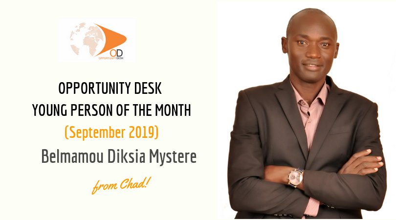 Belmamou Diksia Mystere from Chad is OD Young Person of the Month for September 2019!