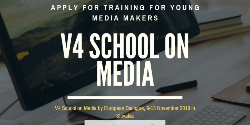 V4 Fall School on Media Training 2019 for Young Media Makers in Slovakia (Funded)