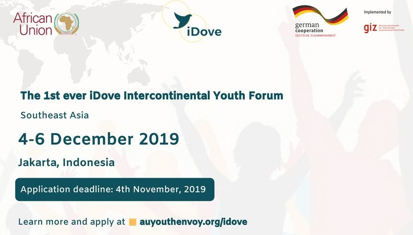 AUC/Giz iDove Intercontinental Youth Forum in Southeast Asia 2019 (Fully-funded to Jakarta, Indonesia)