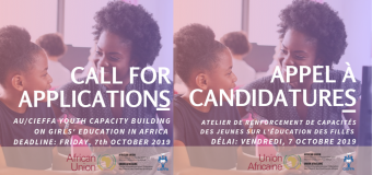 African Union/CIEFFA Youth Capacity Building Workshop on Girls' Education in Africa 2019 – Accra, Ghana