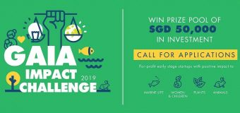 GAIA Impact Challenge (GIC) 2019 for Early-stage Startups (SGD 50,000 prize and more)