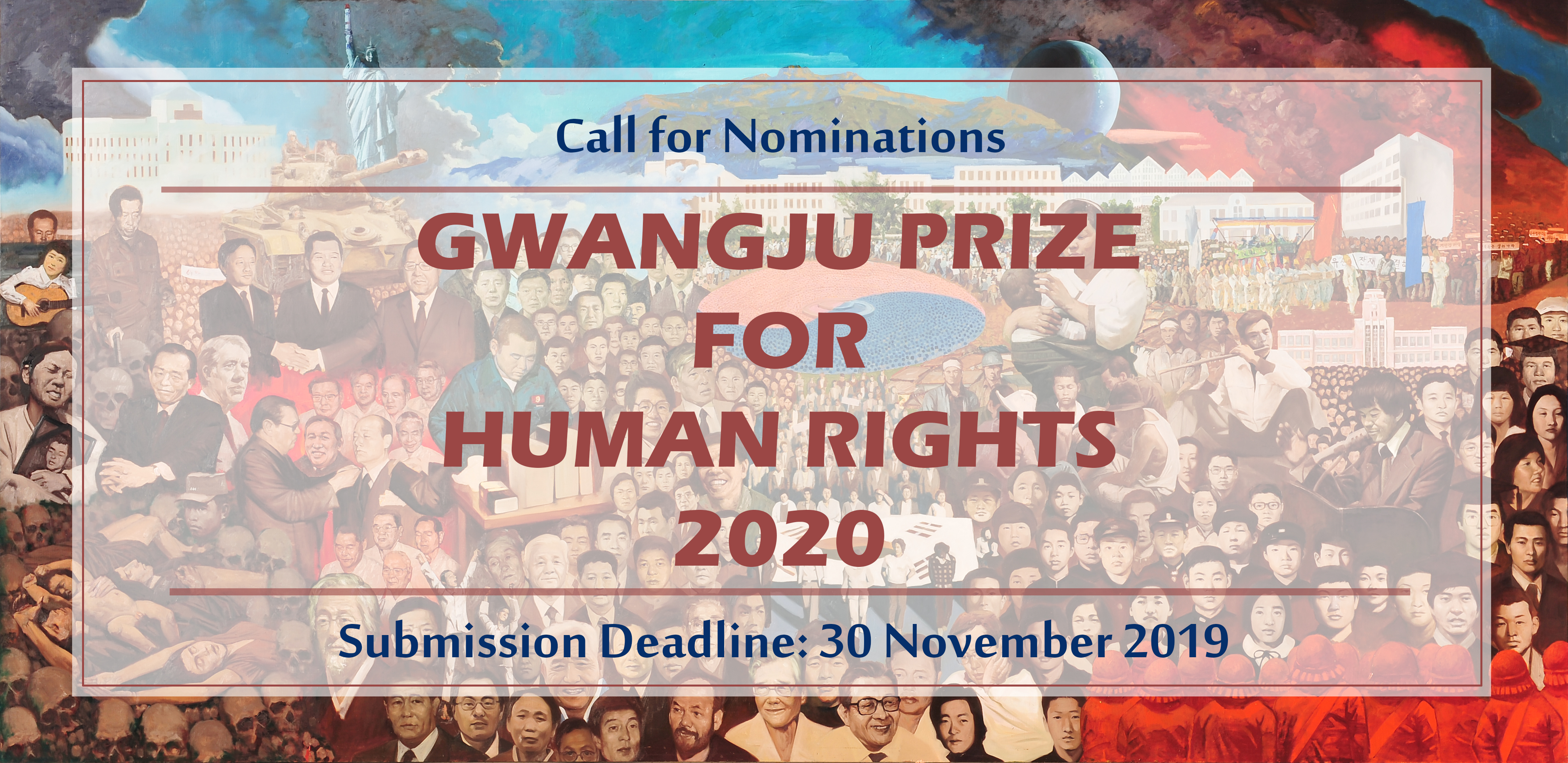Call for Nominations: The Gwangju Prize for Human Rights 2020 (Award of $50,000)