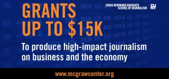 McGraw Fellowship for Business Journalism 2020 ($USD $15,000 grant)