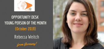 Rebecca Weicht from Germany is OD Young Person of the Month for October 2019!
