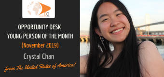 Crystal Chan from the United States is OD Young Person of the Month for November 2019!