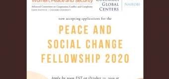 Peace and Social Change Fellowship 2020 for Women Grassroots Activists in Africa (Funded to Nairobi, Kenya)