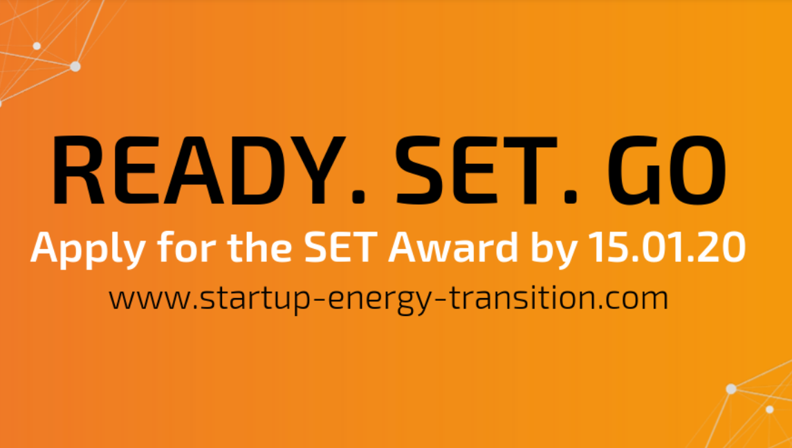 SET Award 2020 for Innovators in the Energy Transition (Up to 10,000 Euros prize)