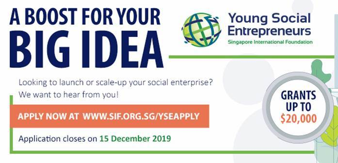Singapore International Foundation's Young Social Entrepreneurs (YSE) Programme 2020