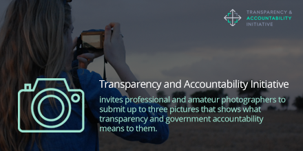 Transparency and Accountability Initiative (TAI) Photo Competition 2020 (grant of US$8,000)