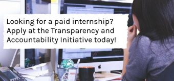 Transparency and Accountability Initiative (TAI) Student Fellowship – Spring 2020 (Stipend of $2,500)