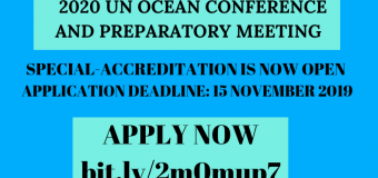 United Nations Ocean Conference 2020: Apply for Special-accreditation!
