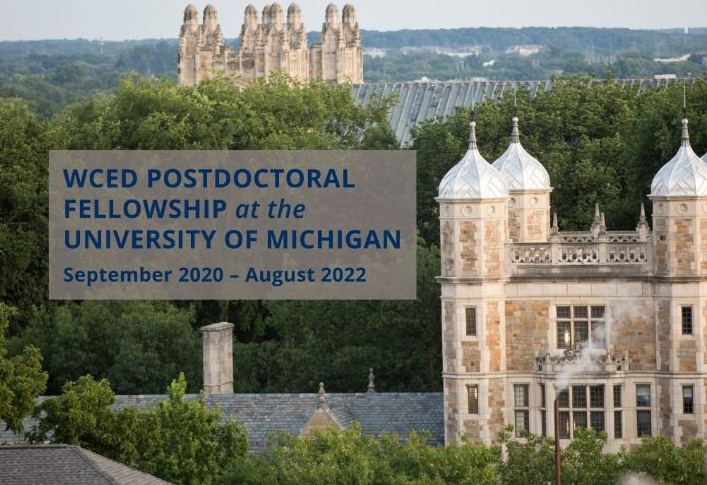 Weiser Center for Emerging Democracies Postdoctoral Fellowship 2020-2022 at University of Michigan (salary of $50,000)