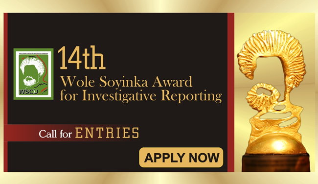 Wole Soyinka Award for Investigative Reporting 2019
