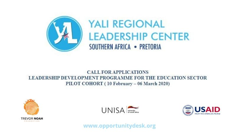 YALI RLC Southern Africa Education Change Makers Programme 2020 (Fully-Funded)