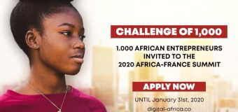 2020 Africa-France Summit/Digital Africa Challenge of 1000 for African Entrepreneurs