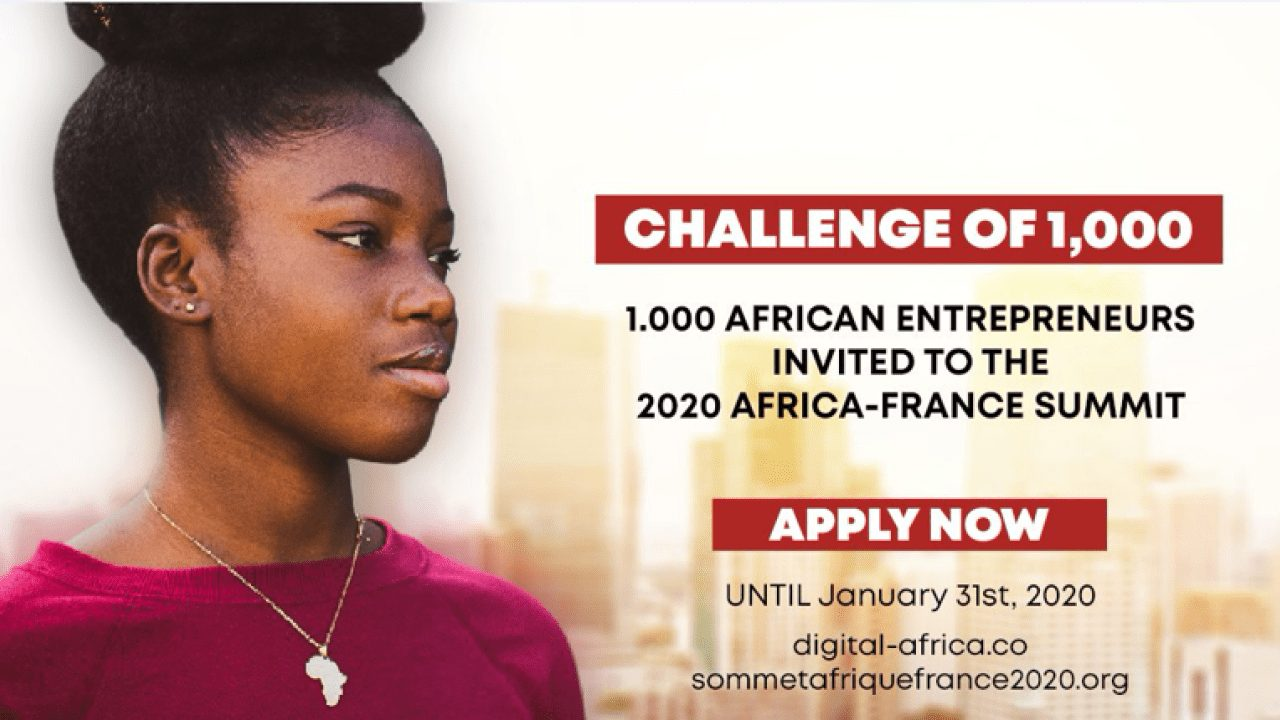 2020 Africa-France Summit/Digital Africa Challenge of 1000 for African Entrepreneurs