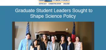 AIBS Emerging Public Policy Leadership Award 2020 for Science Graduate Students from the United States