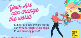 Amnesty International Change StARTs NOW: Artivism Contest 2019