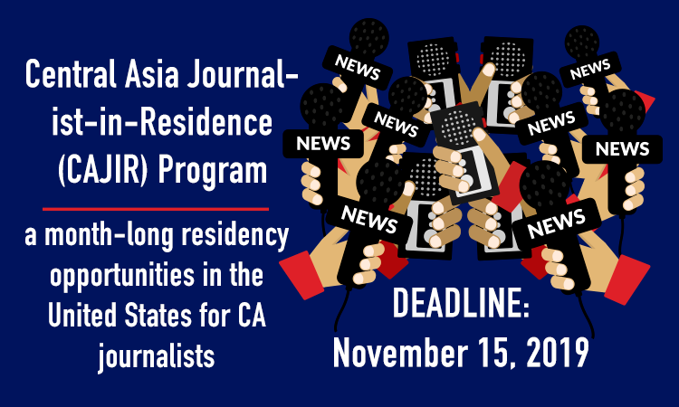 Central Asian Journalist-in-Residence Program – Spring 2020