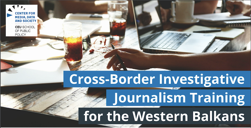 Cross-Border Investigative Journalism Training for the Western Balkans 2019 (Fully-funded)