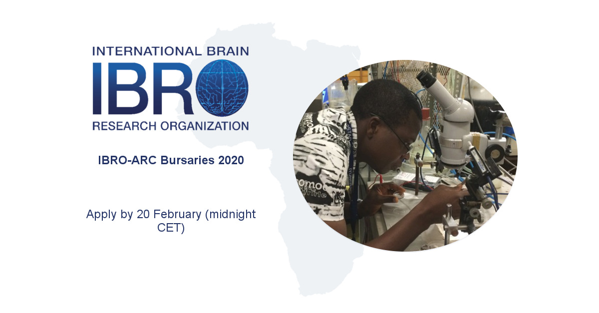 IBRO African Regional Committee (IBRO-ARC) Bursaries 2020 for African Researchers (up to €4,000)