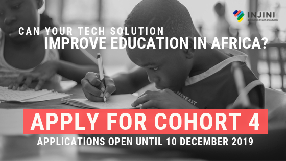 Injini's Incubation Programme 2020 for EdTech Changemakers in Africa (grant of R100,000 plus funded trip to South Africa)