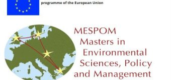 Erasmus Mundus Joint Master Degree in Environmental Sciences, Policy and Management (MESPOM) 2020-2022