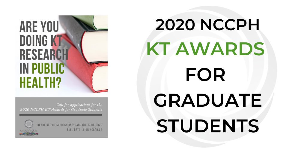 NCCPH Knowledge Translation Graduate Student Awards 2020